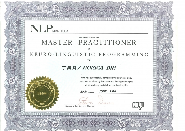 NLP Master 證書